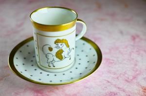 小さなエスプレッソ用デミタスカップ&ソーサー Aries 牡羊座
