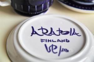 アラビア(ARABIA)社 バレンシアVALENCIAシリーズ デミタスカップ&ソーサー 1