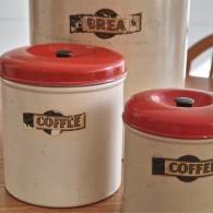 英国 キッチン用品の名品 garrison社のキャニスター3種  1
