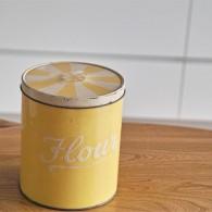 Regency Ware リージェンシー 英国 ウェアー社製 フラーワー缶 サーカステント柄イエロー