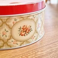 英国 Worcester Ware  ウースタウェアーア社製 ケーキ缶 クランボーン柄
