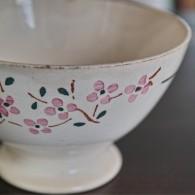 カフェオレボウル その3 桜のような可憐なピンクの花柄