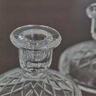 たっぷりのガラスが魅力的なキャンドルホルダー ペアーで