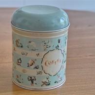 英国 Worcester Ware  ウースタウェアーア社製 COFFEE缶 茶摘み柄