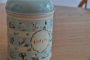 英国 Worcester Ware  ウースタウェアーア社製 COFFEE缶 茶摘み柄 5