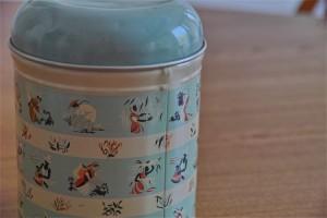 英国 Worcester Ware  ウースタウェアーア社製 COFFEE缶 茶摘み柄 3