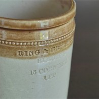 RING & BRYMER BIRCH'S  英国 ストーンウェアのジャー  DOULTON社製