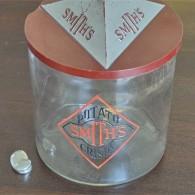 英国 SMITH'S ポテトチップ 販売用のガラスケース 珍しいプラスチックの蓋のタイプ