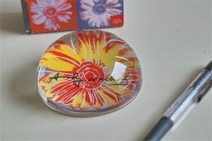 アンディ ワォーホール デザイン お花のペーパーウェイト ドイツ ローゼンタール studio line 製 3
