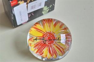 アンディ ワォーホール デザイン お花のペーパーウェイト ドイツ ローゼンタール studio line 製 1
