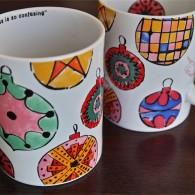 ドイツ ローゼンタール(Rosenthal)製 アンディ・ワォホール(Andy Warhol)デザイン クリスマスオーナメント柄 ビッグマグカップ
