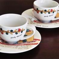 ドイツ ローゼンタール(Rosenthal)製 アンディ・ワォホール(Andy Warhol)デザイン ケーキ柄のエスプレッソカップ 2ヶセット