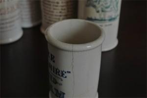 英国 クロテッドクリームボトル 青文字 ミニサイズ その1 6