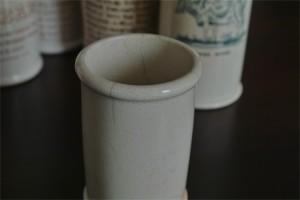 英国 クロテッドクリームボトル 青文字 ミニサイズ その1 5