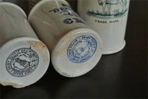 英国 クロテッドクリームボトル 青文字 ミニサイズ その1 1