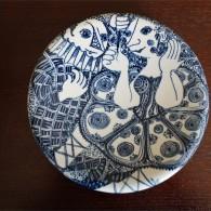 1950年代 デンマーク NYMOLLE窯 ビョルン・ヴィンブラッド(Bjorn Wiinblad 1918-2006 )デザイン サーカスの男女