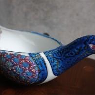 デンマーク アルミニア社製 (Royal Copenhagen ロイヤルコペンハーゲン)手彩色の青い鳥 Berte Jessenデザイン