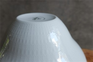 ドイツ ローゼンタール製 ビョルン・ヴィンブラッドデザイン ロマンスシリーズ 大きな白磁のサラダボウル 径21.5㌢