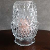 アメリカンヴィンテージ ガラス製キャンドルホルダー カバー付きフェアリーランプ 無色小10