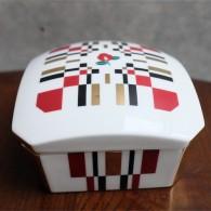 資生堂 SHISEIDO ノベルティ  椿会 1997年度 フェイスパウダー用 陶器製小物入れ 12