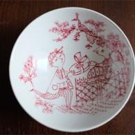 Bjørn (Bjorn) Wiinblad (ビョルン・ヴィンブラッドさん)デザイン 赤のボウル Praline (プラリネ) デンマーク ニモール窯(Nymølle)3062-470 14