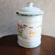 フランスホーロー 1920年代 JAPY(ジャピー)社製 Sucre 砂糖入れ