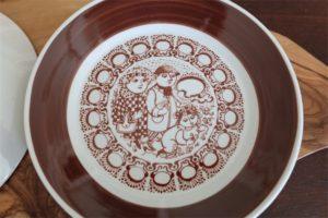 MARTS (デンマーク語)3月 ソーサーのみ 飾りプレートとしても ビョルンビンブラッド・デザイン NYMOLLE(ニモール)窯