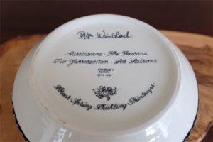 1950年代 ビョルン・ヴィンブラッド(Bjorn Wiinblad 1918-2006 )デザイン デンマーク 二モール窯 四季シリーズ 春 サラダボウル