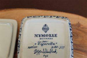 ビョルン・ビンブラッド(Bjorn Wiinblad) デザイン NYMOLLE窯 デンマーク タイトル:cigarette 蓋つきキャニスター