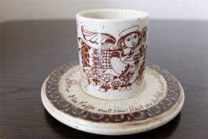 ドイツ ローゼンタール Studio-line製 ビョルン・ヴィンブラッド/Bjorn Wiinblad デザイン コーヒーカップ & ソーサー
