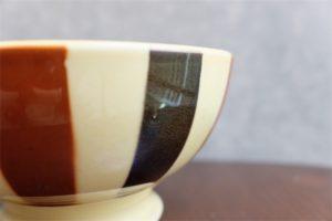 アンティークカフェオレボウル フランス Badonviller ( バドンヴィレー窯) ブラック&ブラウン その75